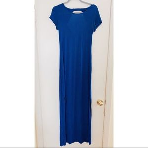 Foreve21 Electric Blue Open-Back Maxi Dress